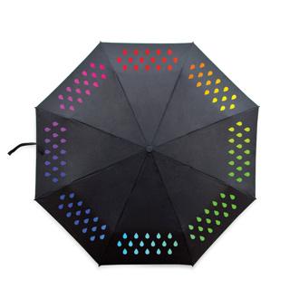 Paraply som ändrar färg